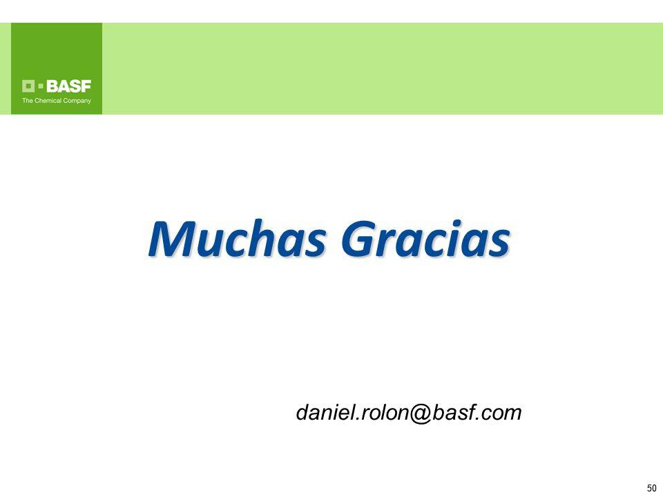 Muchas Gracias daniel.rolon@basf.com 50