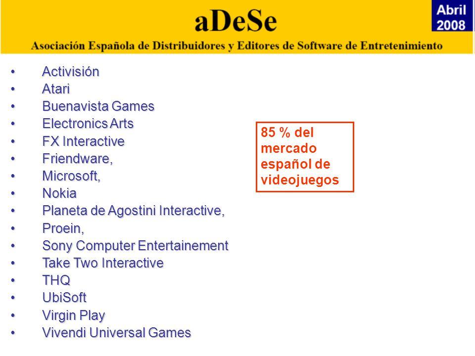 Activisión Atari. Buenavista Games. Electronics Arts. FX Interactive. Friendware, Microsoft, Nokia.