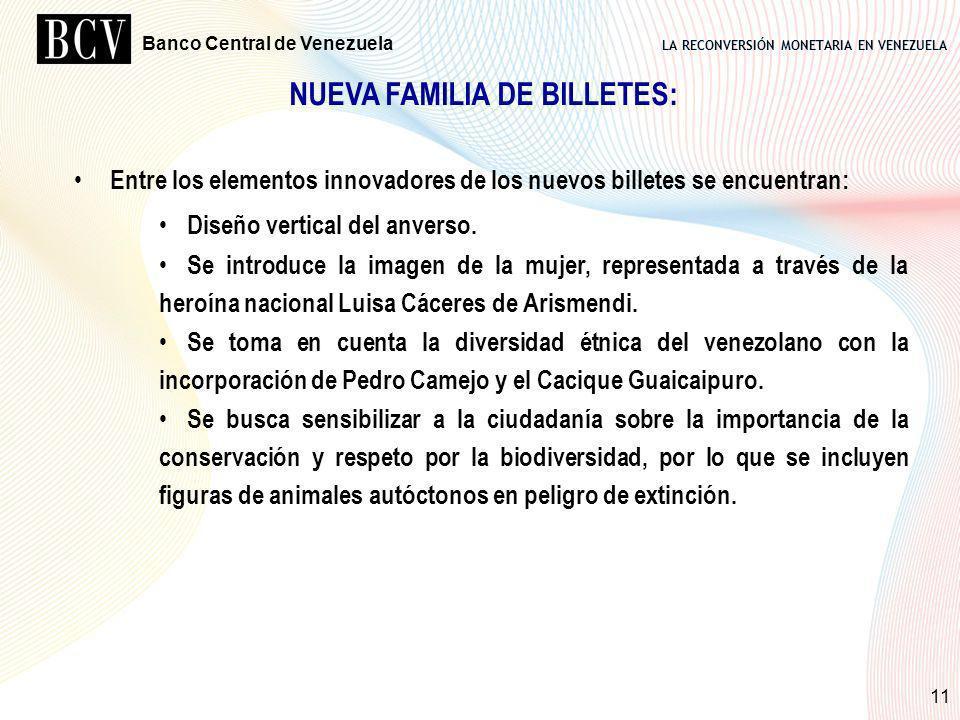 NUEVA FAMILIA DE BILLETES: