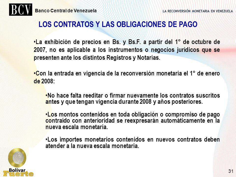 LOS CONTRATOS Y LAS OBLIGACIONES DE PAGO