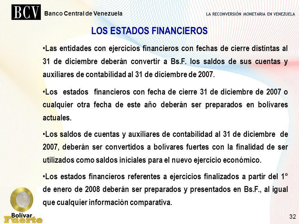 LOS ESTADOS FINANCIEROS