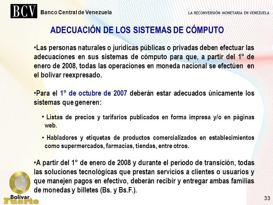 ADECUACIÓN DE LOS SISTEMAS DE CÓMPUTO