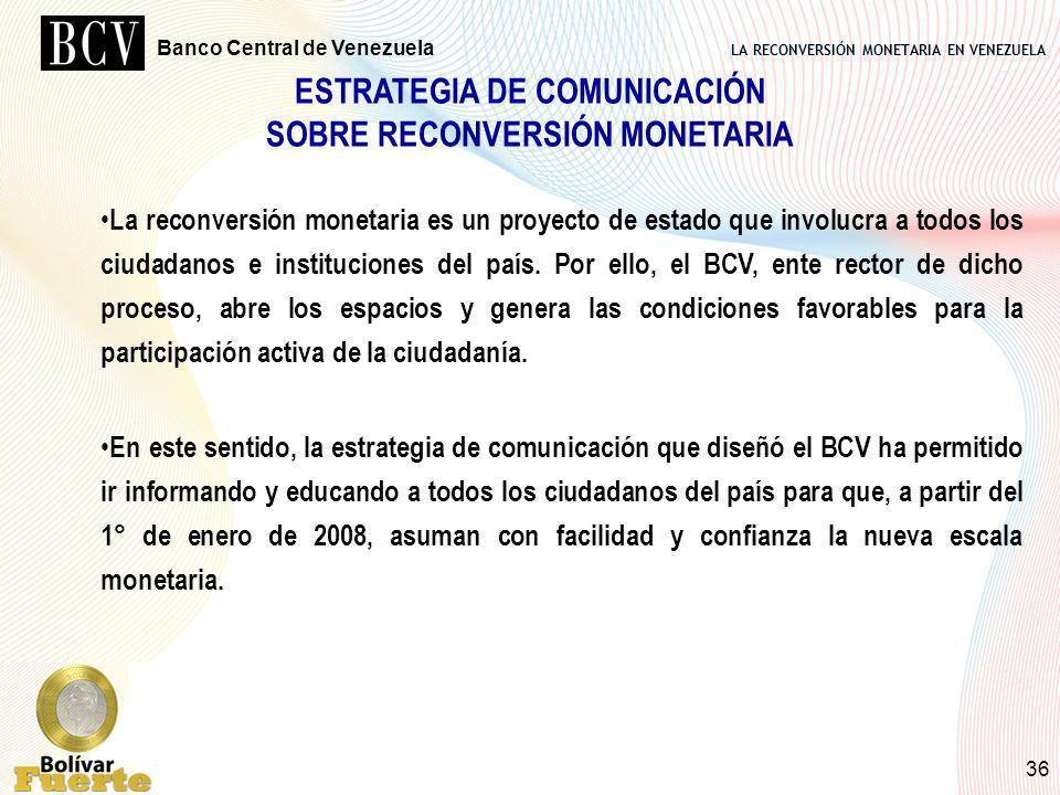 ESTRATEGIA DE COMUNICACIÓN SOBRE RECONVERSIÓN MONETARIA