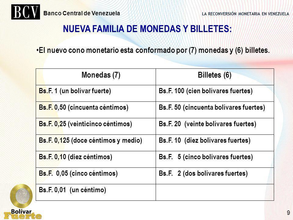 NUEVA FAMILIA DE MONEDAS Y BILLETES:
