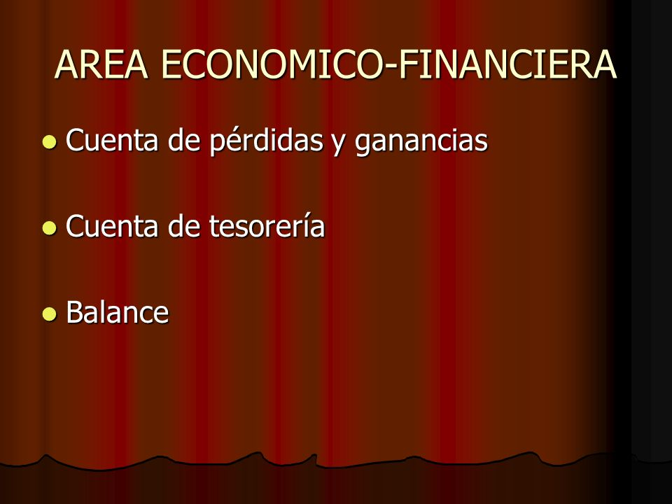 AREA ECONOMICO-FINANCIERA