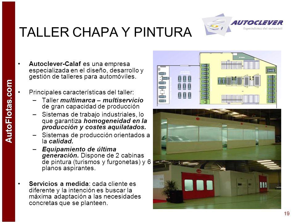 TALLER CHAPA Y PINTURA Autoclever-Calaf es una empresa especializada en el diseño, desarrollo y gestión de talleres para automóviles.