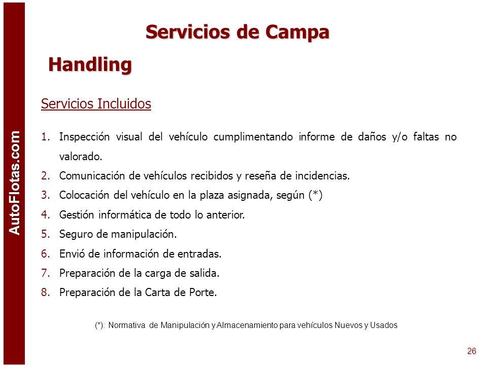 Servicios de Campa Handling