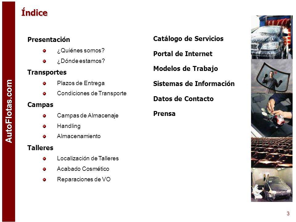 Índice Catálogo de Servicios Presentación Portal de Internet