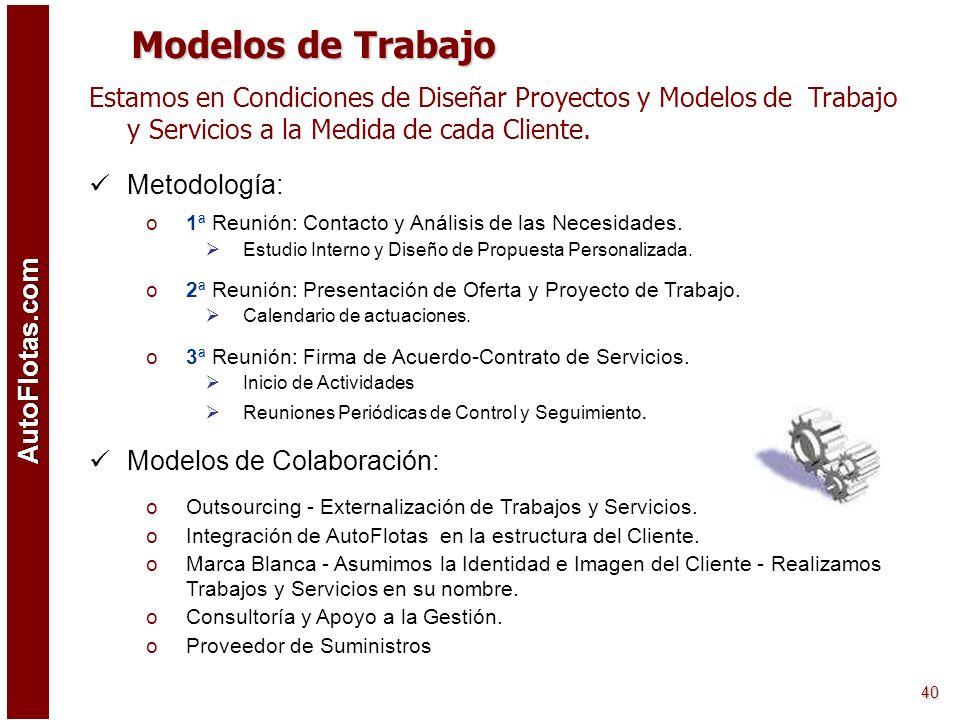 Modelos de Trabajo Estamos en Condiciones de Diseñar Proyectos y Modelos de Trabajo y Servicios a la Medida de cada Cliente.