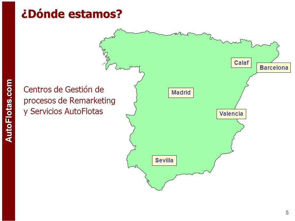 ¿Dónde estamos Centros de Gestión de procesos de Remarketing y Servicios AutoFlotas. Calaf. Barcelona.