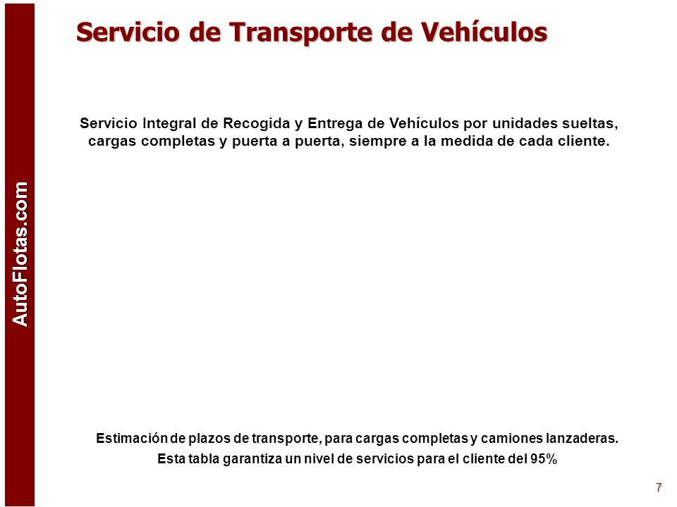 Servicio de Transporte de Vehículos