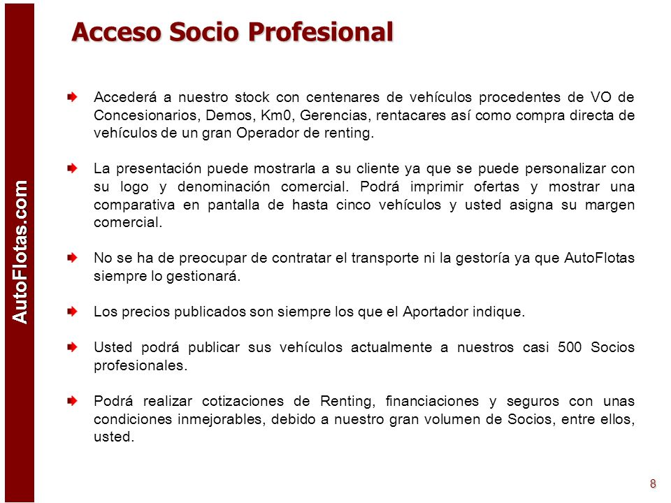 Acceso Socio Profesional