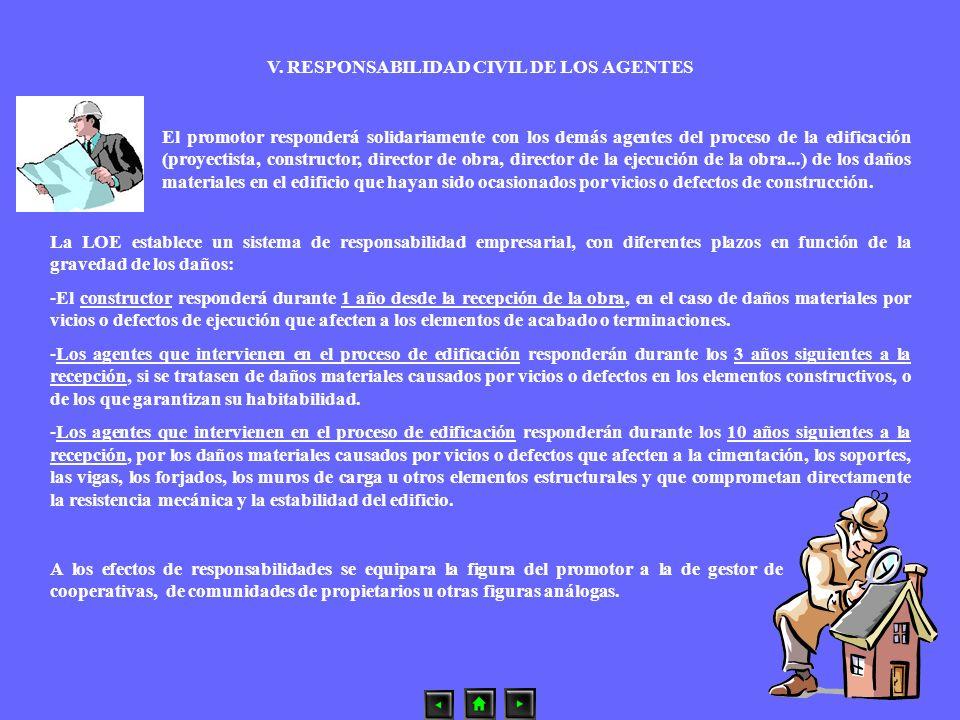 V. RESPONSABILIDAD CIVIL DE LOS AGENTES