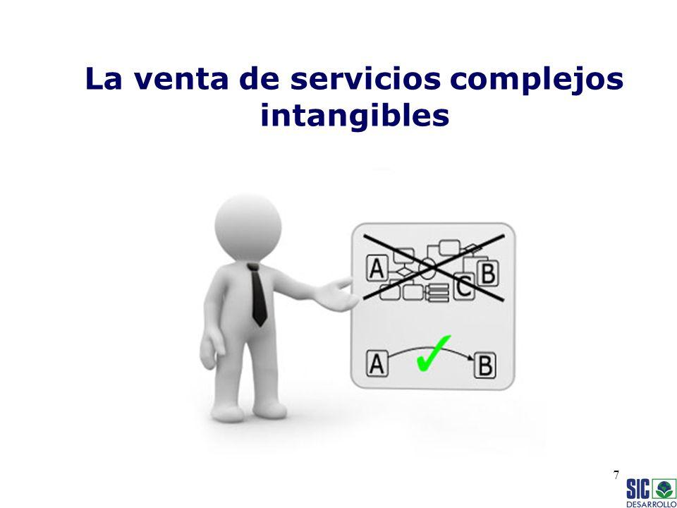 La venta de servicios complejos intangibles