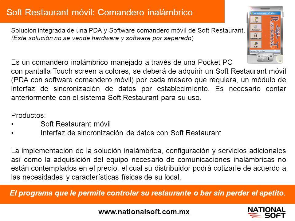Soft Restaurant móvil: Comandero inalámbrico