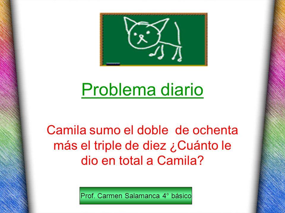 Prof. Carmen Salamanca 4° básico