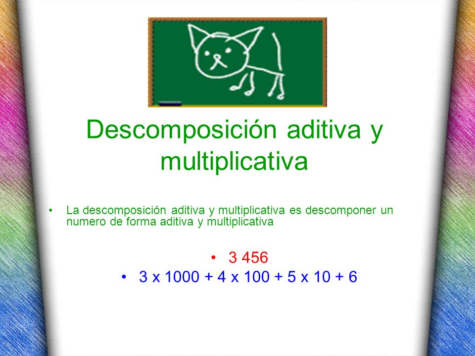 Descomposición aditiva y multiplicativa