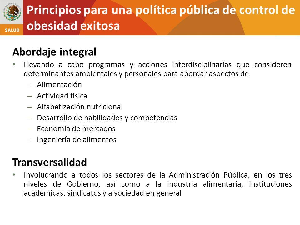 Principios para una política pública de control de obesidad exitosa