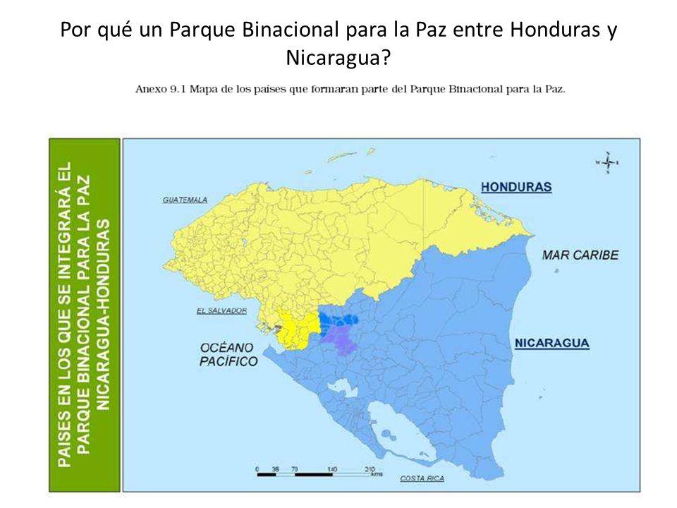 Por qué un Parque Binacional para la Paz entre Honduras y Nicaragua