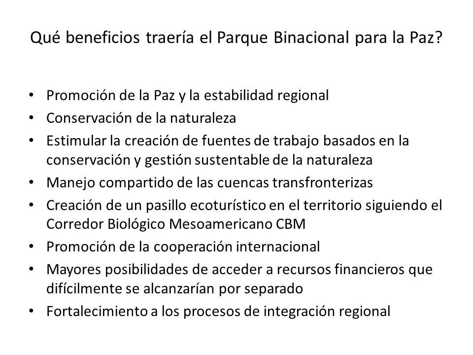 Qué beneficios traería el Parque Binacional para la Paz