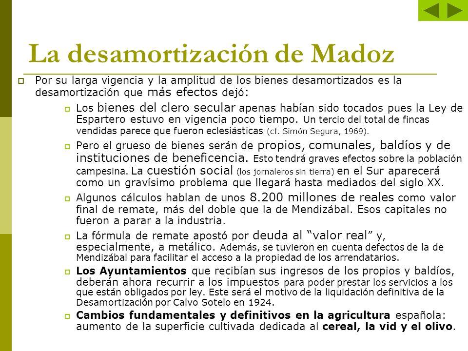 La desamortización de Madoz