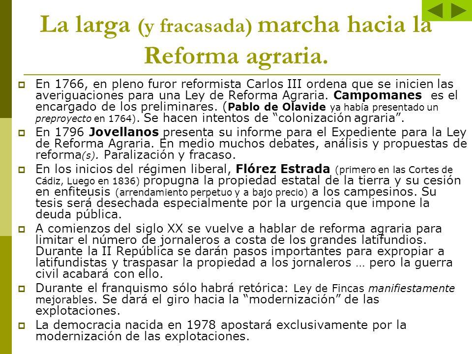 La larga (y fracasada) marcha hacia la Reforma agraria.