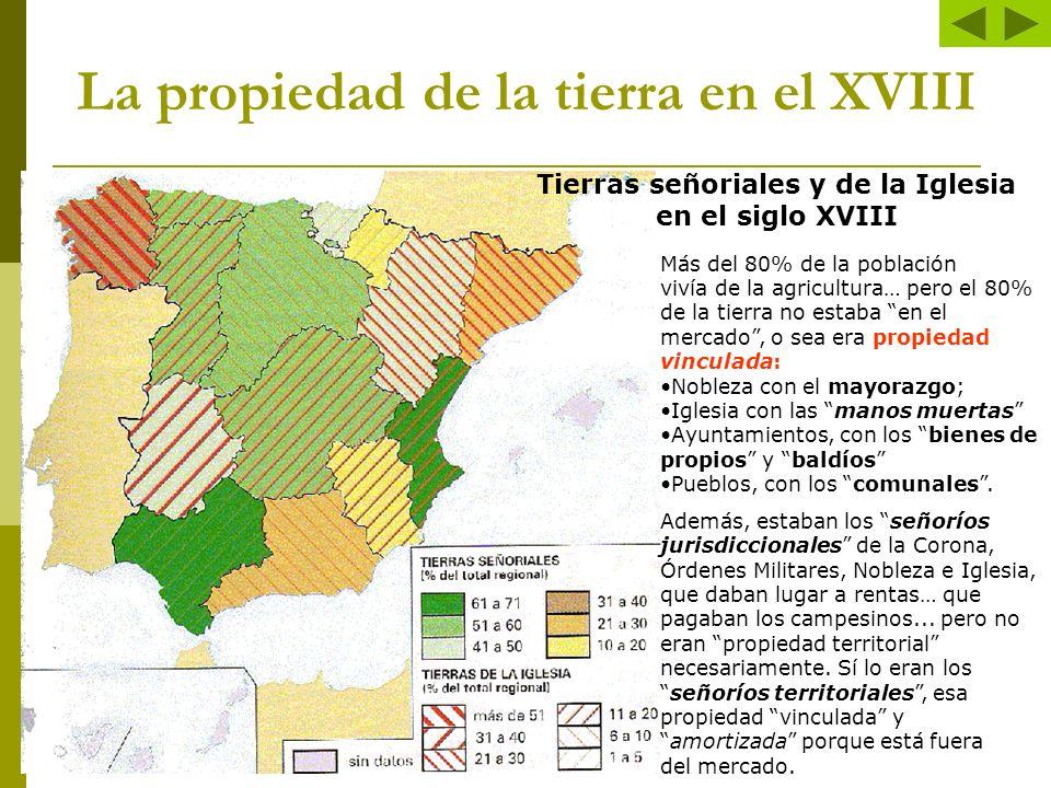 La propiedad de la tierra en el XVIII