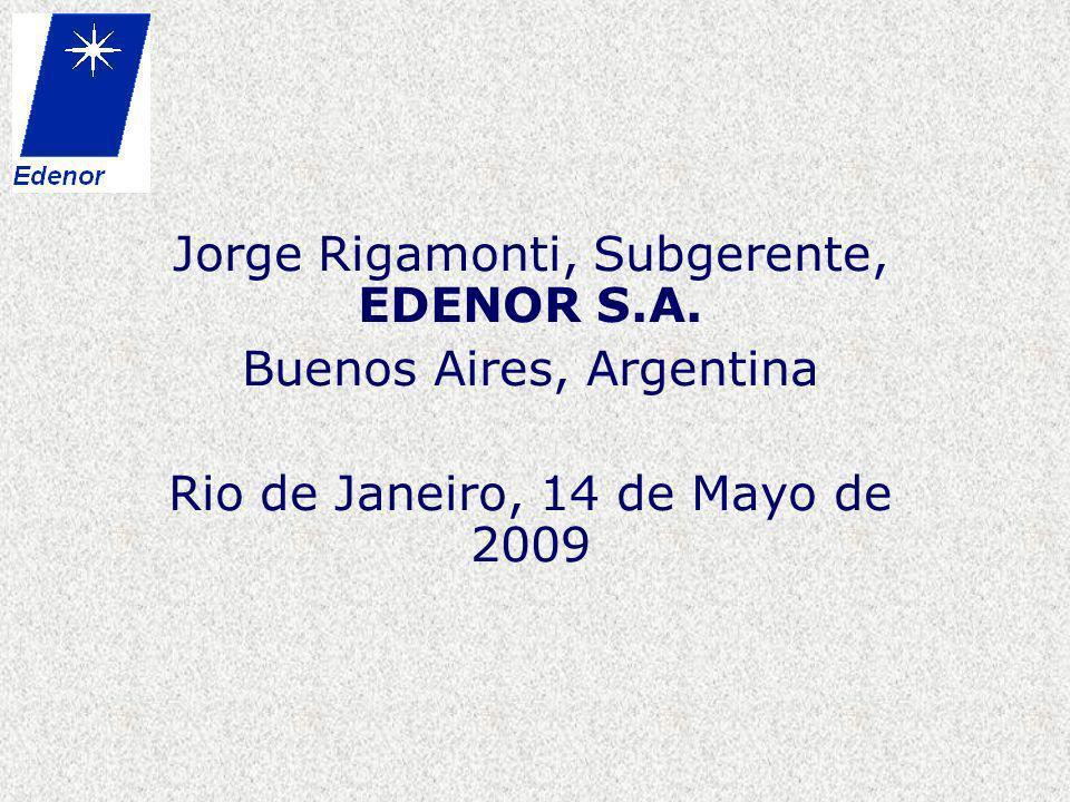 Jorge Rigamonti, Subgerente, EDENOR S.A. Buenos Aires, Argentina