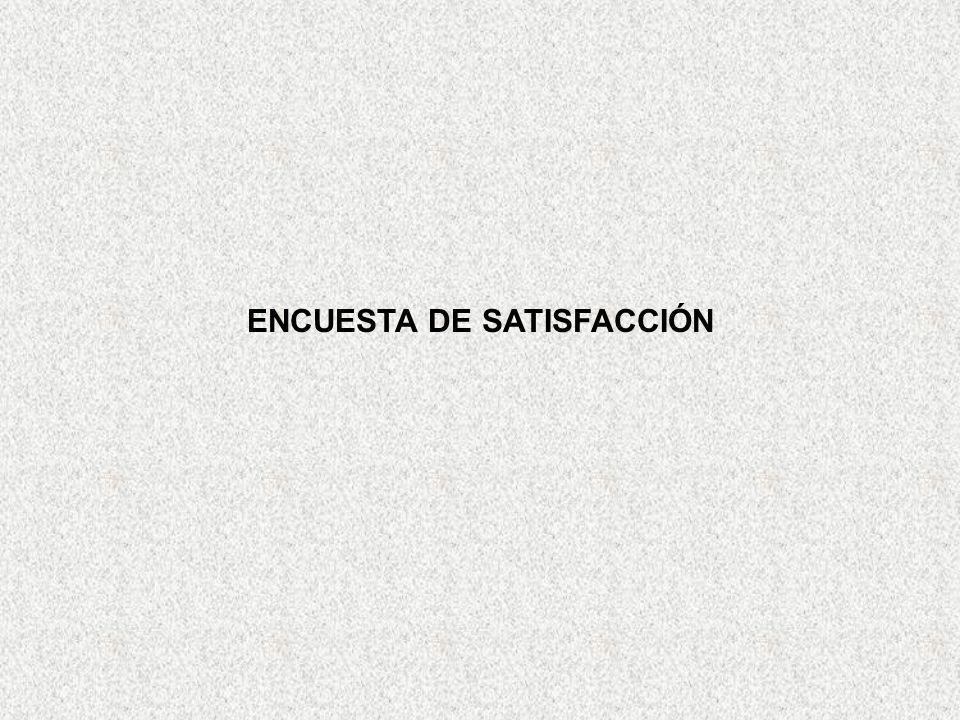 ENCUESTA DE SATISFACCIÓN