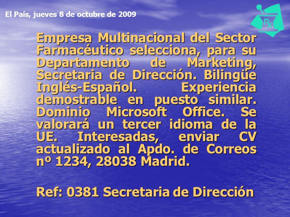 Ref: 0381 Secretaria de Dirección