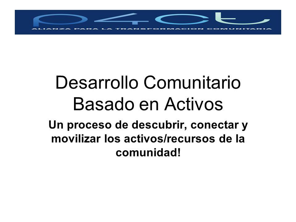 Desarrollo Comunitario Basado en Activos