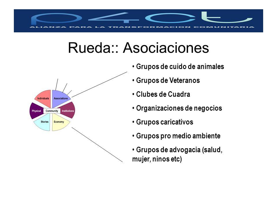 Rueda:: Asociaciones Grupos de cuido de animales Grupos de Veteranos