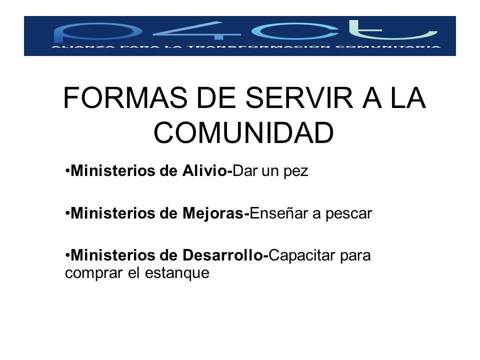 FORMAS DE SERVIR A LA COMUNIDAD