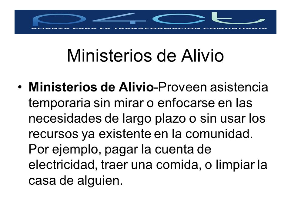 Ministerios de Alivio