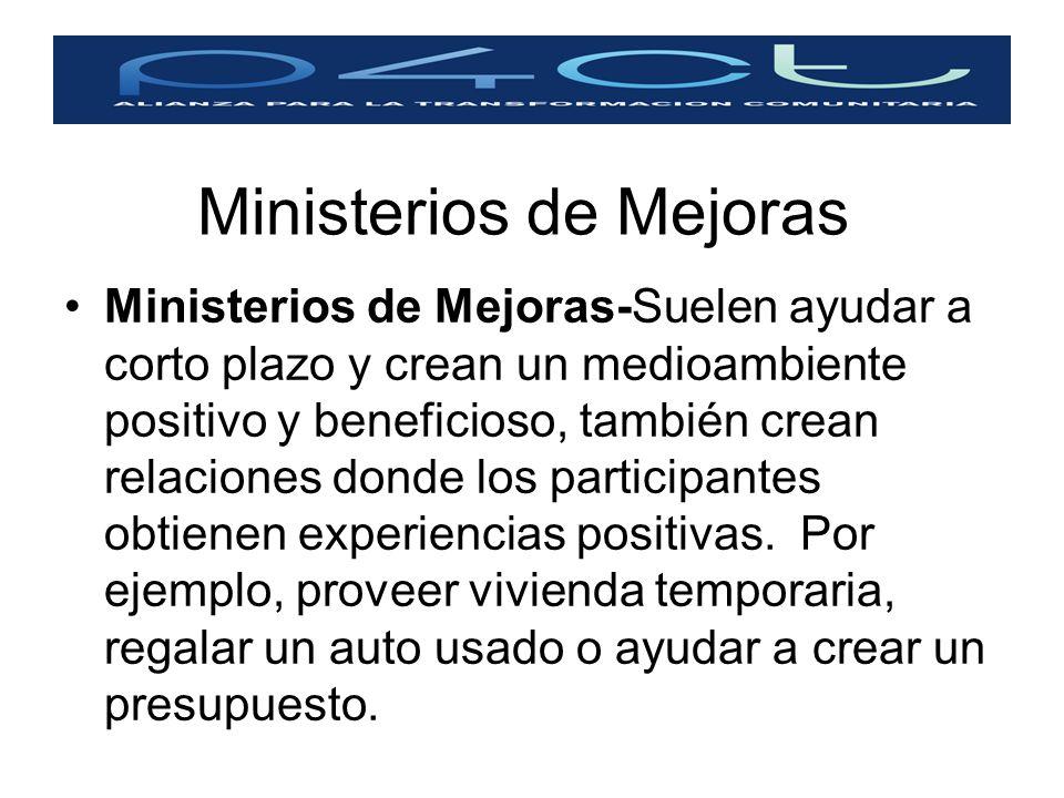 Ministerios de Mejoras