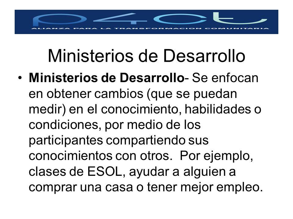 Ministerios de Desarrollo