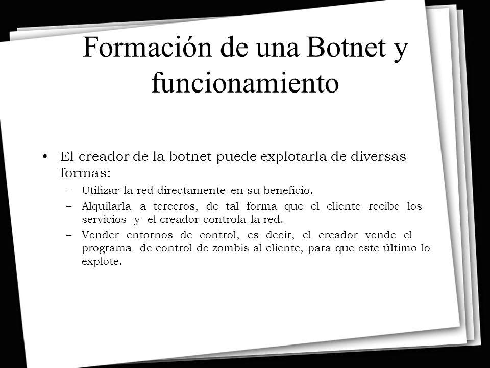 Formación de una Botnet y funcionamiento
