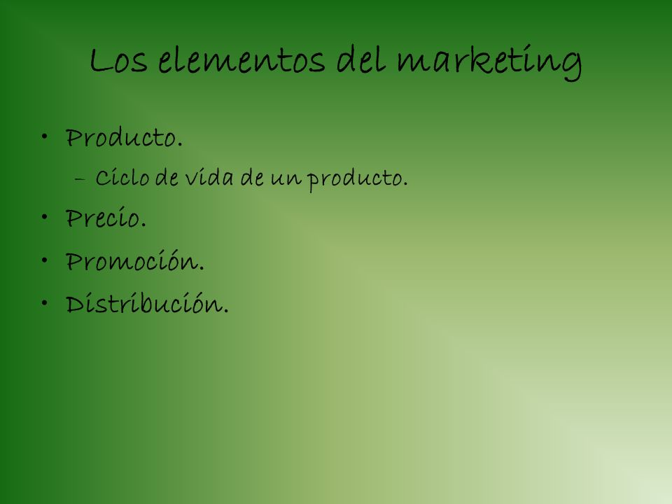 Los elementos del marketing