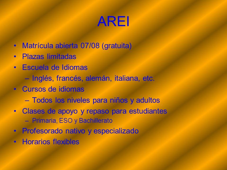 AREI Matrícula abierta 07/08 (gratuita) Plazas limitadas