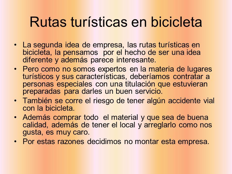 Rutas turísticas en bicicleta