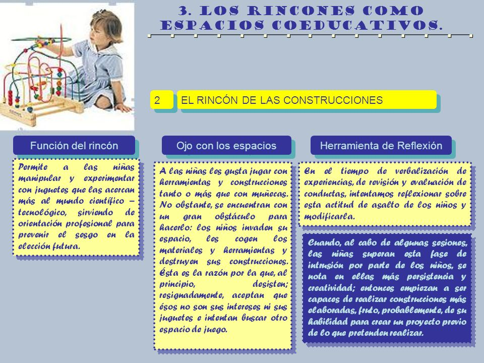 3. LOS RINCONES COMO ESPACIOS COEDUCATIVOS.