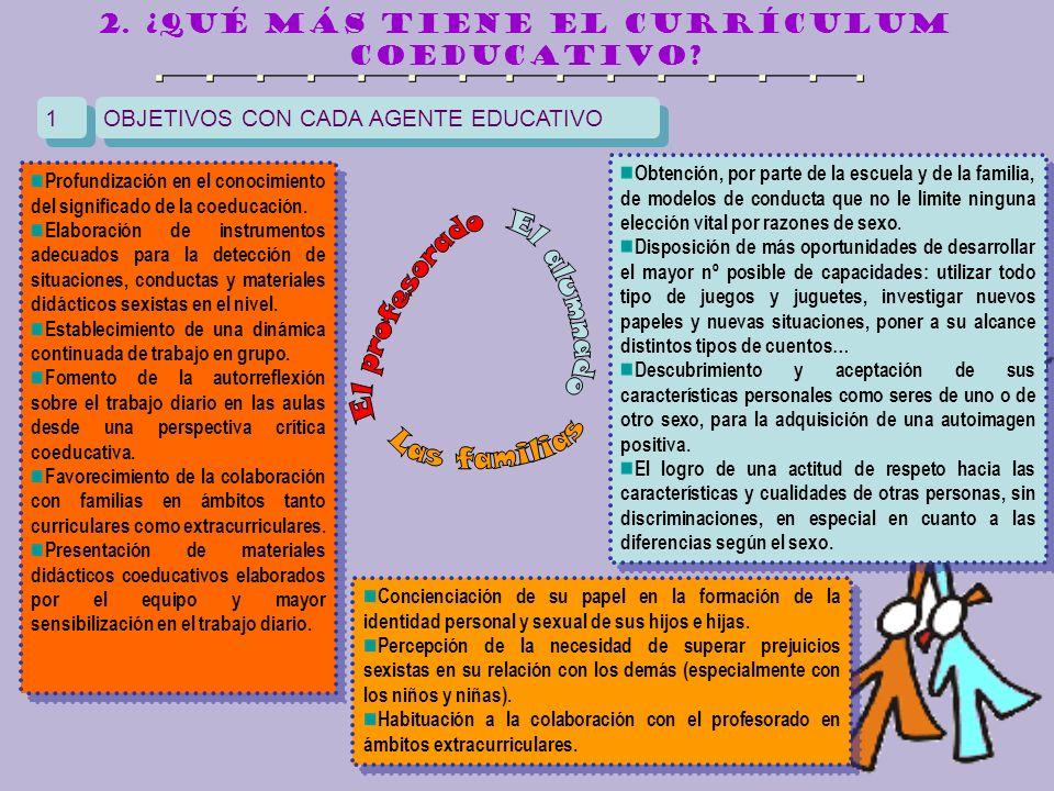 2. ¿qué más tiene el currículum coeducativo