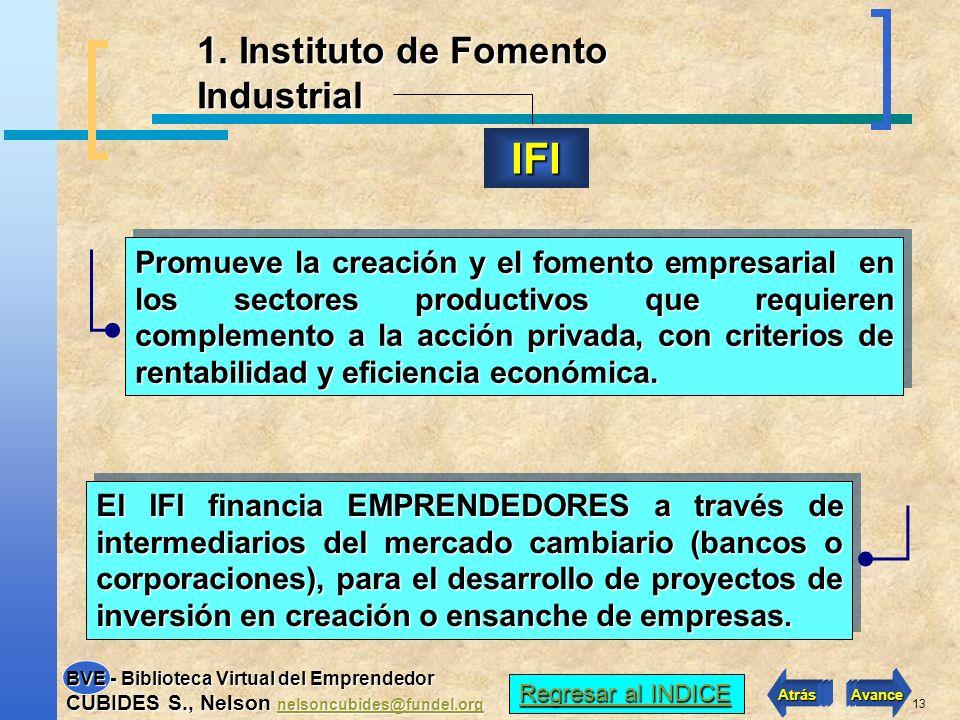 IFI 1. Instituto de Fomento Industrial