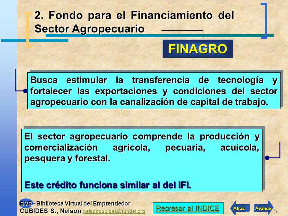 FINAGRO 2. Fondo para el Financiamiento del Sector Agropecuario