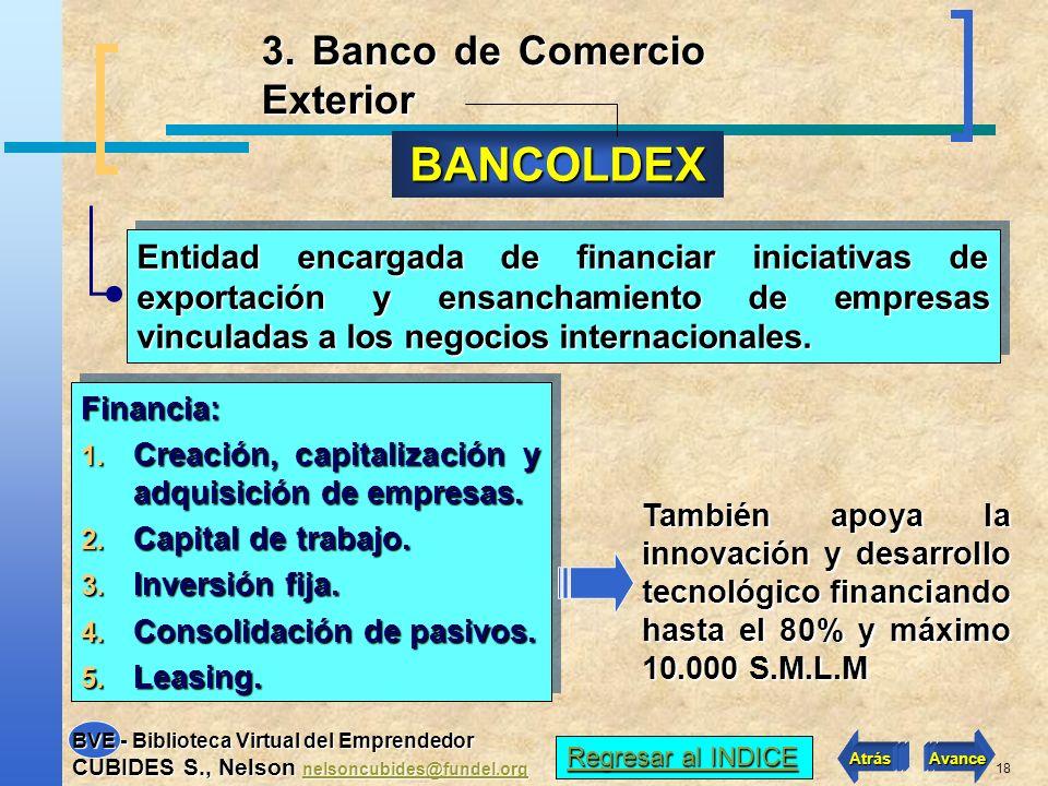 BANCOLDEX 3. Banco de Comercio Exterior