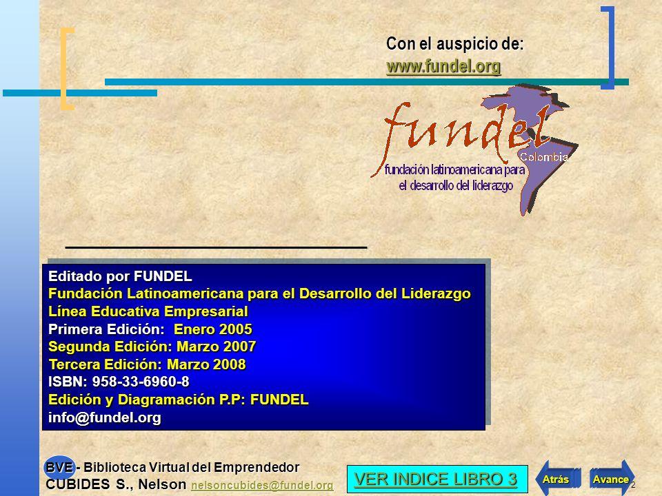 Con el auspicio de: www.fundel.org VER INDICE LIBRO 3