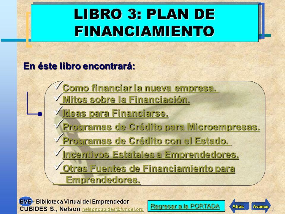 LIBRO 3: PLAN DE FINANCIAMIENTO