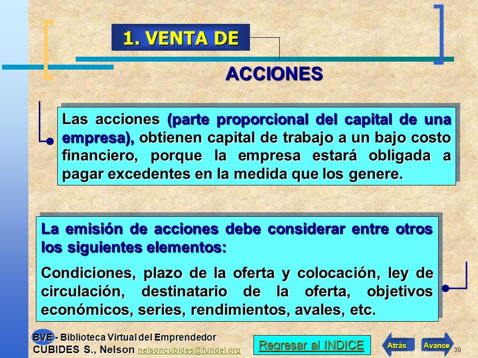 1. VENTA DE ACCIONES.