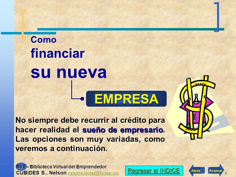 su nueva financiar EMPRESA Como