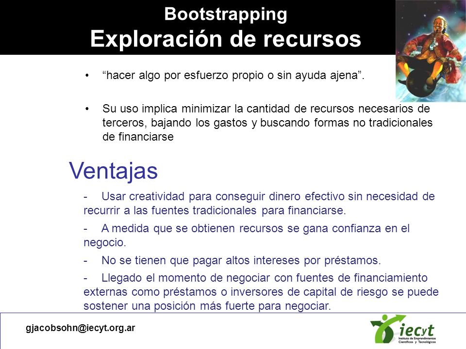 Bootstrapping Exploración de recursos